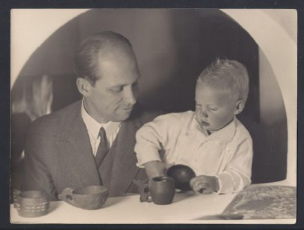 Archduke Anton Habsburg Austria & Son Archduke Stefan circa 1938 Antique Photo
